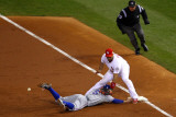 Game 7 - Rangers v Cardinals, St Louis, MO - October 28: Ian Kinsler and Albert Pujols Photographic Print by Dilip Vishwanat