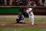 2011 World Series Game 7 - Rangers v Cardinals, St Louis, MO - October 28: Yadier Molina Photographic Print by Rob Carr 