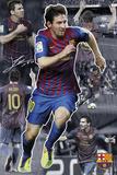 Barcelona, Messi, colagem Pôsters