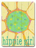 Hippie Girl Wood Sign