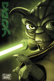 Clone Wars-Yoda Kunstdruck