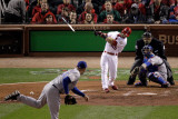 2011 World Series Game 7 - Rangers v Cardinals, St Louis, MO - October 28: Skip Schumaker Photographic Print by Rob Carr 