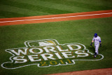 2011 World Series Game 7 - Rangers v Cardinals, St Louis, MO - October 28: Mike Napoli Photographic Print by Dilip Vishwanat