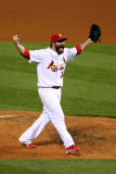 2011 World Series Game 7 - Rangers v Cardinals, St Louis, MO - October 28: Jason Motte Photographic Print by Dilip Vishwanat