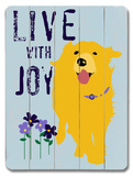 Live with Joy Wood Sign by Ginger Oliphant