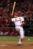 2011 World Series Game 7 - Rangers v Cardinals, St Louis, MO - October 28: Rafael Furcal Photographic Print by Ezra Shaw