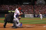 2011 World Series Game 7 - Rangers v Cardinals, St Louis, MO - October 28: David Freese Photographic Print by Ezra Shaw