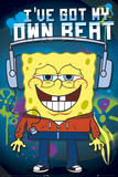 Spongebob-Headphones Poster