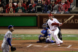 Game 7 - Rangers v Cardinals, St Louis, MO - October 28: David Freese and Matt Harrison Photographic Print by Rob Carr 