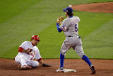 Game 7 - Rangers v Cardinals, St Louis, MO - October 28: Ian Kinsler and Rafael Furcal Photographic Print by  Rob Carr