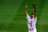 2011 World Series Game 7 - Rangers v Cardinals, St Louis, MO - October 28: Albert Pujols Fotografisk tryk af Dilip Vishwanat