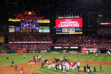 2011 World Series Game 7 - Texas Rangers v St Louis Cardinals, St Louis, MO - October 28 Lámina fotográfica por Dilip Vishwanat