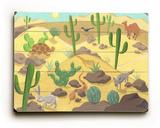 Desert Animals Wood Sign
