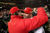 Game 7 - Rangers v Cardinals, St Louis, MO - October 28: Albert Pujols and Tony La Russa Photographie par Jamie Squire