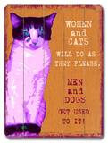 Women and Cats Wood Sign