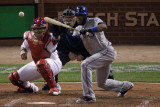 2011 World Series Game 7 - Rangers v Cardinals, St Louis, MO - October 28: Elvis Andrus Photographic Print by  Rob Carr