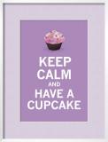 Lavender Cupcake Posters