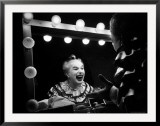 Charlie Chaplin at Dressing Room Mirror, Giving Himself a Wide Grin Framed Photographic Print by W. Eugene Smith