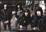 Ramones-Amsterdam 1977 Poster
