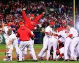 The St. Louis Cardinals Celebrate Winning World Series in Game 7 of the 2011 World Series Photo