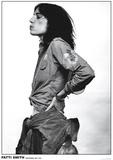 Patti Smith van opzij gezien, Amsterdam 1976 Poster