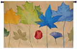 Leaf Dance Three Wall Tapestry by Robert Mertens