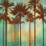 Aqua Palms II Kunst af John Seba