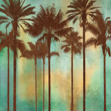 Aqua Palms II Art by John Seba