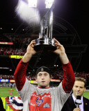 David Freese WITH World Series MVP Trophy Game 7 of the 2011 MLB World Series (42) Photographie
