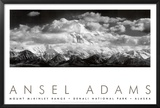 Mt. McKinley Range, Clouds, Denali National Park, Alaska, 1948 Poster by Ansel Adams