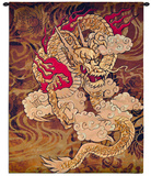 Golden Dragon Wall Tapestry by Brad Simpson