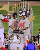 Lance Berkman & Albert Pujols - World Series Championship Trophy 2011 World Series (43) Photo