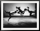 Four Male Members of the Limon Company Rehearsing Framed Photographic Print by Gjon Mili