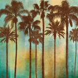Aqua Palms I Art by John Seba