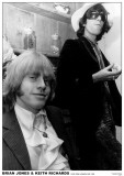 Brian Jones & Keith Richards-Hyde Park Apartment 1968 Prints