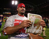 Albert Pujols Celebrates Winning Game 7 of the 2011 MLB World Series (41) Photo
