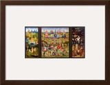 The Garden of Earthly Delights, circa 1500 Framed Giclee Print by Hieronymus Bosch