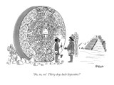"""No, no, no! Thirty days hath September!"" - New Yorker Cartoon Premium Giclee Print by Anatol Kovarsky"
