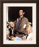 """Freedom Of Speech"", February 21,1943 Framed Giclee Print by Norman Rockwell"