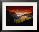 Scenic View of a Sunset at Yosemite National Park Framed Photographic Print by Paul Nicklen