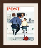 """Runaway"" Saturday Evening Post Cover, September 20,1958 Framed Giclee Print by Norman Rockwell"