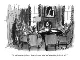 """""""His will reads as follows: 'Being of sound mind and disposition, I blew i…"""" - New Yorker Cartoon Premium Giclee Print by Frank Modell"""