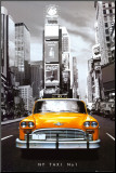 New York Taxi No. 1 Mounted Print
