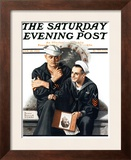 """Thinking of the Girl Back Home"" Saturday Evening Post Cover, January 18,1919 Framed Giclee Print by Norman Rockwell"