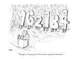 """Tonight, we're going to let the statistics speak for themselves."" - New Yorker Cartoon Premium Giclee Print by Edward Koren"
