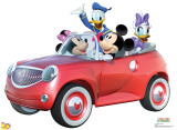 Mickey Car Ride Cardboard Cutouts