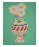 Fried Egg Flowers in Talavera Premium Giclee Print by Laura Pascal