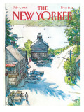 The New Yorker Cover - July 4, 1983 Premium Giclee Print by Arthur Getz