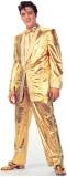 Elvis Presley in pak van goudlamé Kartonnen poppen