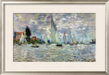 The Boats, or Regatta at Argenteuil, circa 1874 Framed Giclee Print by Claude Monet